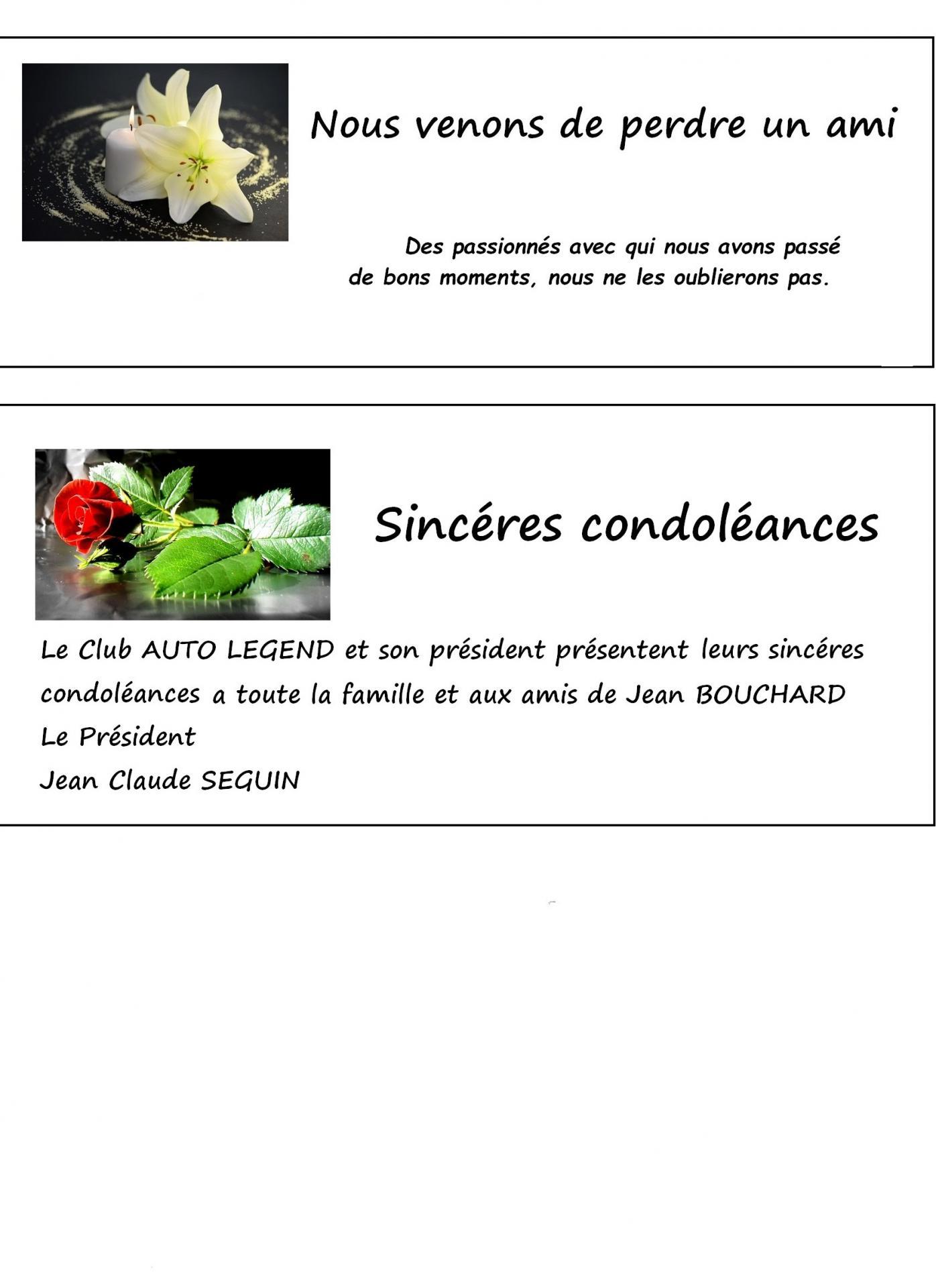 Avis de deces condoleances
