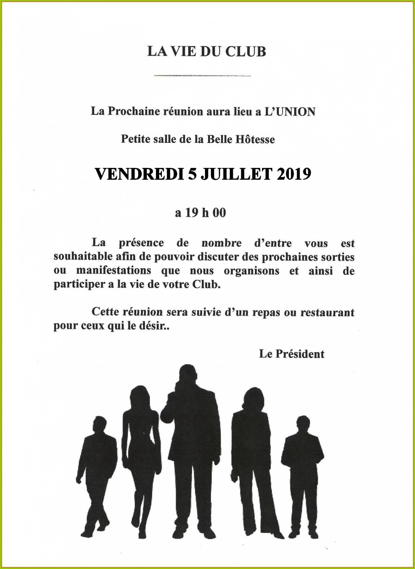 Reunion belle hotesse 07 2019